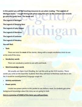 Michigan Reading Unit