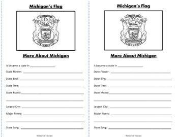 Michigan Webquest Common Core Research Mini Book Activity