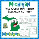 Michigan Webquest Mini Research Book With Facts, Symbols, Map Activity + More