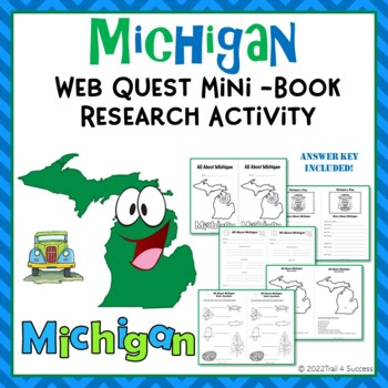 Michigan Webquest Common Core Mini Book Activity