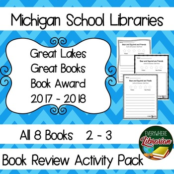 Michigan School Library 17 - 18, 2 -3 Great Lakes Great Books Award Review Pack