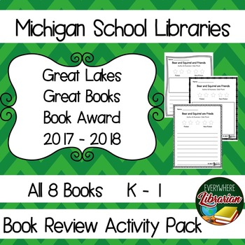 Michigan School Library 17 - 18 K-1 Great Lakes Great Books Award Review Pack