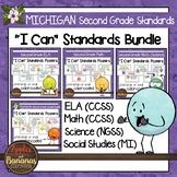 """Michigan Second Grade Standards Bundle """"I Can"""" Posters"""