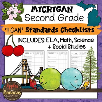 Michigan I Can Standards Checklists Second Grade