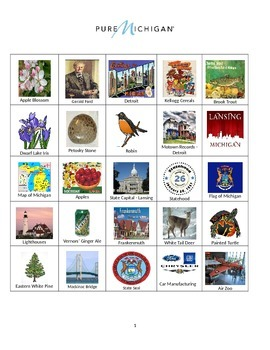Michigan:  Sites and Symbols Bingo