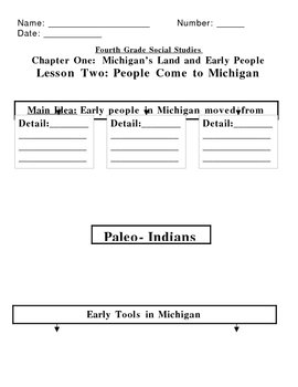Michigan Social Studies (Grade 3 or 4) Graphic Organizers for Houghton Mifflin
