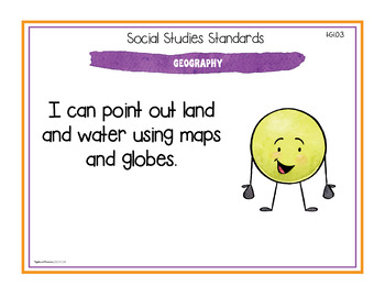 Michigan Social Studies Standards - First Grade Posters