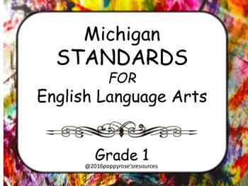 Michigan Standards for English Language Arts Grade 1 - I Can Statements