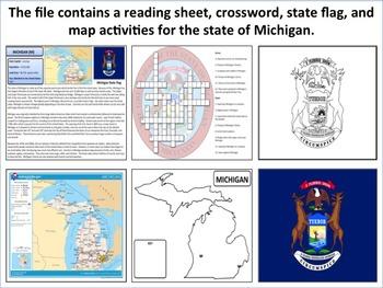 Michigan - State Activity Set