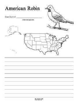 Michigan State Bird Notebooking Set (American Robin)