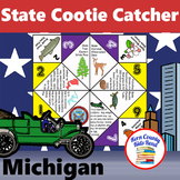 Michigan State Facts and Symbols Cootie Catcher Distance L