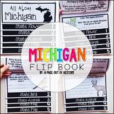Michigan State Flipbook Interactive Activity for Social Studies
