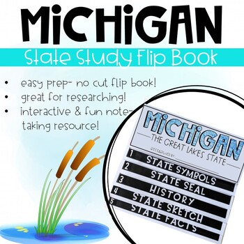 Michigan State Study Activity Flip Book/ Note Taking Pages