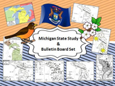 Michigan State Study & Bulletin Board Set