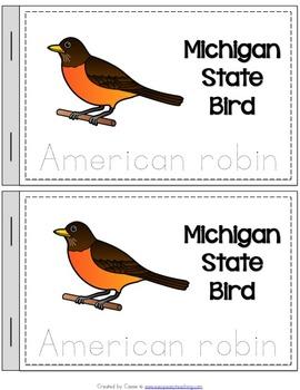 Michigan State Symbols Notebook