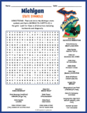 MICHIGAN State Symbols Word Search Puzzle Worksheet Activity