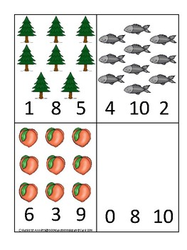 Michigan State Symbols themed Count and Clip Game. Preschool Game