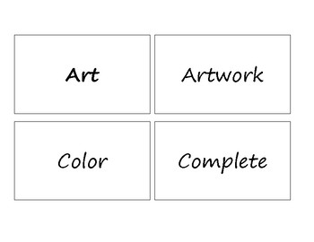 Michigan Visual Arts Standards Vocabulary Cards Sample