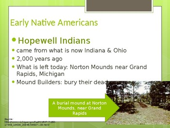 Michigan's First People- Native American Study