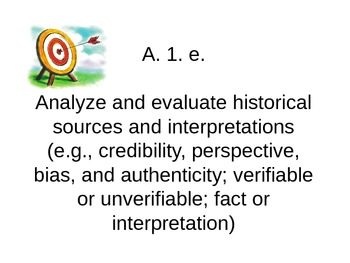 MI Content Expectation Targets - U.S. History