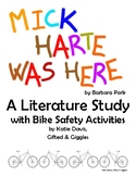 Mick Harte Was Here Literature Study & Bicycle Safety