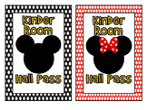 Mickey and Minnie Hall Pass Set