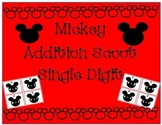 Mickey Addition Scoot  Single Digit Disney
