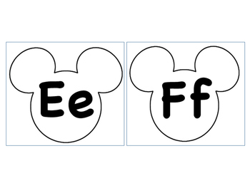Mickey Alphabet Outline