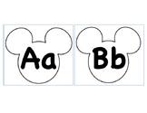 Mickey Alphabet Outline