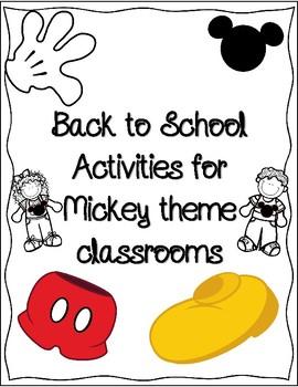 Mickey Back to School Activities