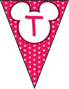 Mickey Banner Decorations **** Pink