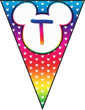 Mickey Banner Decorations **** Rainbow