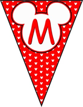 Mickey Banner Decorations **** Red