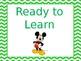 Mickey Behavior Chart