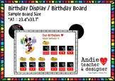 Editable Mickey Inspired Birthday Chart / Birthday Display