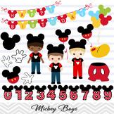 Mickey Boy Clipart, Boy Mickey Clip Art, Mickey Mouse Birthday Party Clip Art