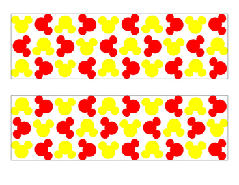 Mickey Bulletin Board Border