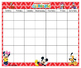 Mickey Calendar & NUmbers 24x20 Bilingual