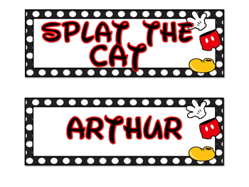 Mickey Classroom Library Labels