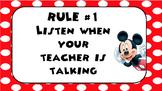Mickey Classroom Rules