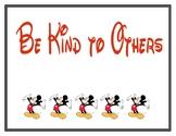 Mickey Classroom Signs