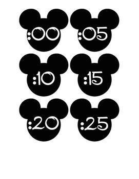 Mickey Clock Numbers