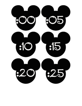 Mickey Clock Numbers