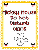 Mickey Do Not Disturb Signs