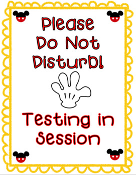 mickey do not disturb signs by serenity s world tpt