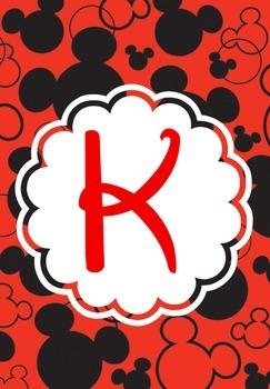 Mickey Ears Binder Covers K-T