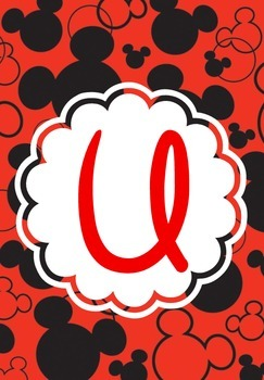 Mickey Ears Binder Covers U-Z