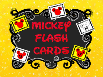 Mickey Fact Family Addition & Subtraction Flash Cards