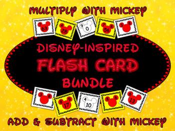 Mickey Fact Family Flash Card Bundle