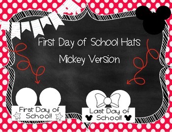 Mickey First Day of School Hats